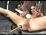 Two Huge Tits Lesbians Fucking Machines And Squirting
