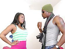 Ebony Babe Monique Symone Gets Stuffed