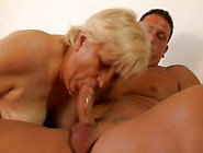 Disgusting Fat Blond Haired Mature Bitch Gets A Chance To Suck D