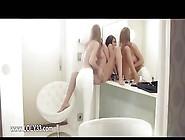 Teen Lesbian Babes Eating Pussies Under Glamorous Panties