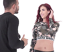 Dick Craving Redhead Shona River Is Interested In A Pulsating Co
