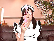 Incredible Asian Maid With Pigtails In Nylon Stockings Yelling I