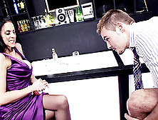 Babe Meets A Man In A Bar And Demands His Cock In Her Cunt