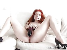 Redhead Slut Barbara Babeurre Is Packing Hot Pussy Between Stret