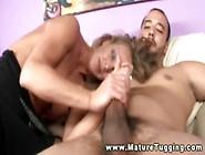 Mature Handjob Blond Milf Tugs