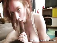 Big Titty Redhead Sucks A Black Cock