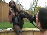 Mistress Tease - Smokin Black Domina
