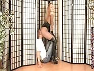 Voluptuous Lady Facesitting Her Sub In Sexy Leotards