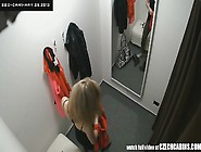 Hidden Changing Room Cam Catches Babe Trying On Clothes