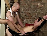 Gay Guys Hanging There Trussed To The Sling He Has No Choice