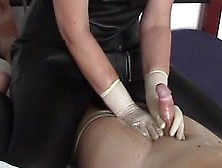 Handjob In Surgical Gloves