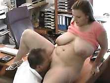 Fat Spouse With Large Breasts Fucked At Work By Husband