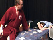 Old Man Takes Advantage Of His Sleeping Daughter