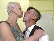 Horny Big Breasted Granny Doing Her Way Younger Lover