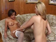 Romantic Lesbians Stuff Huge Dildos In Each Other