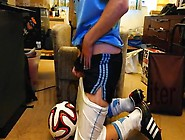 Sagging Shiny Soccer Shorts