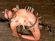 Yasmine De Leon Gets Her Ass Toyed While Being Chained In A Pill