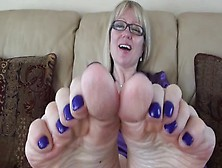 Dirty Soles And Blue Nail Polish