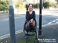 Paraplegic Girl Shows Her Pussy