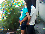 My Uzbek Buddy Fucks His Gf's Pussy From Behind In The Yard