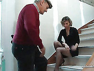French Mother Rough Anal Pounded In Three Some With Papy