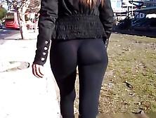See Through Leggings Ass Walk