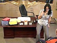 Slim Sexy Nerd Girl Fucked On The Table Of Her Office
