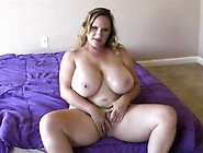Huge Breasted Blonde Mom Seanna Rubs Her Peach And Strokes A Fat