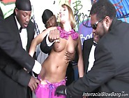 Aurora Snow Fucked In A Interracial Gangbang!