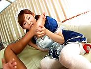Obedient Asian Housemaid Erena Kurosawa Gives A Blowjob