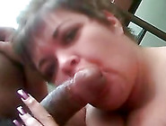 Short-Haired Mature Brunette Sucks A Dick Hungrily In Homemade P