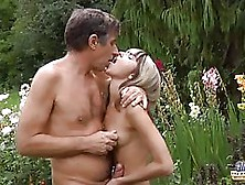 Doris Ivy Is Getting Fucked In Her Garden While No One Is Watchi