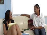 Young Ebony Babysitter Is A Very Attractive And Hot So She Easil