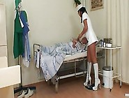 Horny Young Nurse Bitch Joins Granny And...