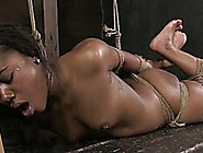 Bitchy Ebony Girl With Great Body Is Tied And Punished By Her Ma