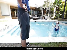 Cfnmteen- Horny Ginger Fucked By Swimming Coach