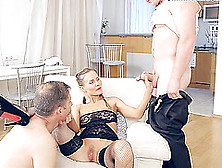Russian Damsel In High Heel Coping Up With Hardcore Throbbing Wh