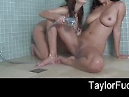 Two Big Natural Titted Babes Are Bathing Together