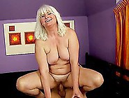 Nasty Granny Judi Sucks And Deepthroats A Cock Before Riding It