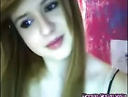 Perfect Petite Busty Teen Strips On Her Live Webcam Whe