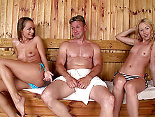 Sauna Sex Session With Insatiable Sophie Lynx And Lina Napoli