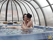 Old4K. Fucking A Hot Young Lady In Jacuzzi