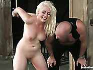 Tied Up Bootylicious And Pale Blondie Moans While Being Teased W