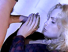 Blonde Cougar In Stockings Riding Huge Dick Hardcore In The Offi