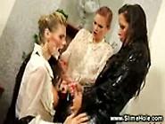 Classy Lesbo Babes In Bukkakke Threesome