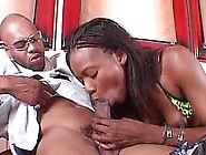 Horny Ebony Blackberry Shaking Her Booty On A Big Black Cock