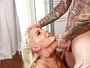 Hot Cocksucking Blonde Tries To Get All Of His Cock In Her Throa