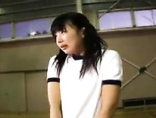 Pigtailed Asian Schoolgirl Works Her Lips And Hands On A Lo