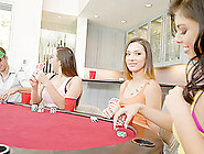 Curvy Chicks And Their Pal Playing A Game That Turns Into Group