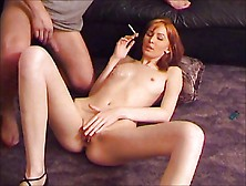 Nice Redhead Smoking And Fucking